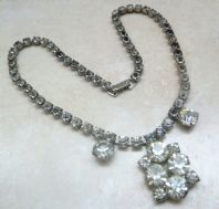 Vintage Early Coro/Corocraft Rhinestone Studded Necklace.
